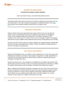 Cover page for Emergency Student Aid Brief