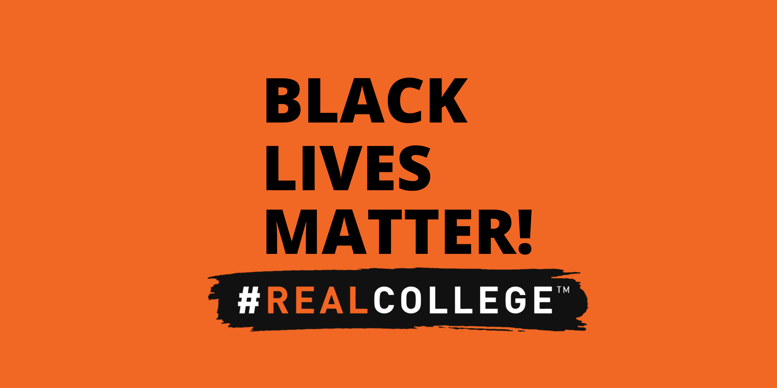 #RealCollege Statement on Police Killings